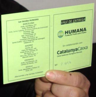 More than 250 people have benefited from the HUMANA clothing voucher program, financed by Caixa Manresa-img1