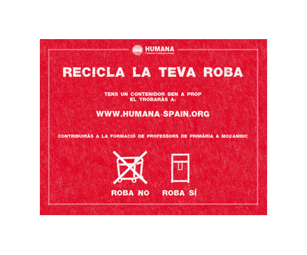 13 Catalan municipalities join the Humana textile recycling campaign 'Save 140' -img1