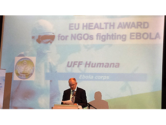 Humana was nominated for 'EU Health Award for NGOs fighting EBOLA'-img1