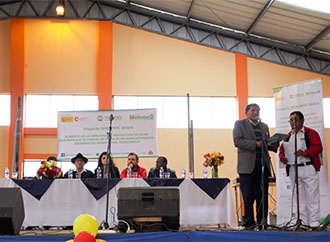 Inauguración del proyecto de comercialización de cuys de Quisapincha-Ecuador-img1