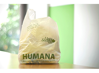 Reusable shopping bag in Humana second hand stores-img1