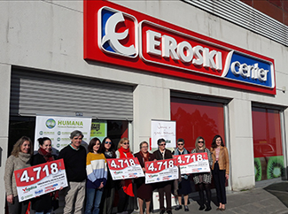 Humana and Vegalsa-Eroski donate € 18,872 to four Galician social organizations-img2