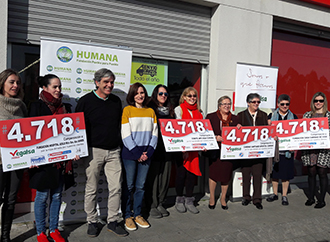 Humana and Vegalsa-Eroski donate € 18,872 to four Galician social organizations-img1
