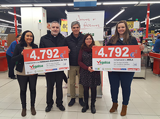Humana and Vegalsa-Eroski donate € 21,382 to five social organizations from Galicia and Asturias-img1