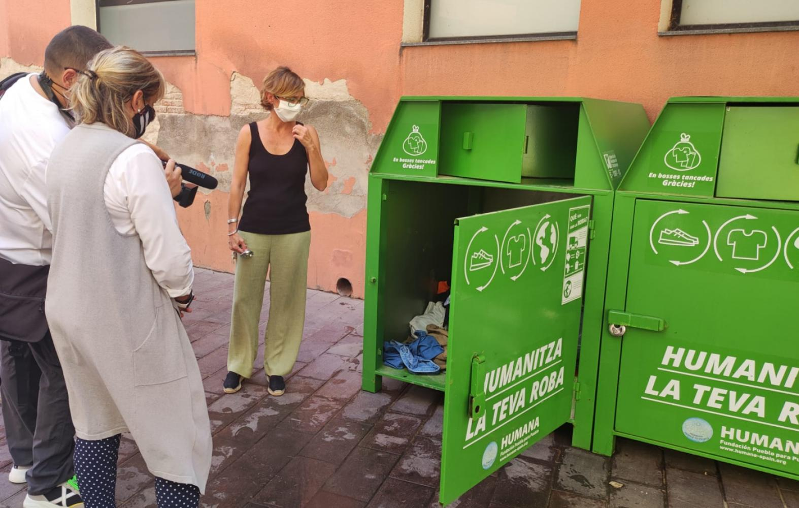 Humana starts the selective textile collection service in Gavà (Barcelona)-img3